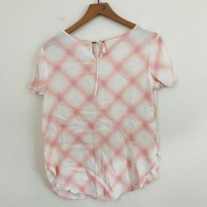 LC Lauren Conrad Tops - Lauren Conrad Pink Plaid Short Sleeve Shirt